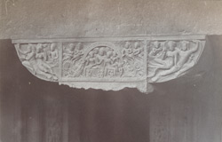Detail of a capital in the verandah of Ajanta Cave XXIV